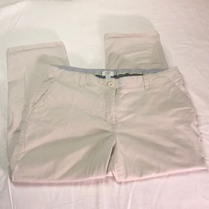 Crown & Ivy Size 12 Capri Pants Light Khaki Sand